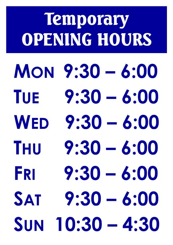 Temporary OPEN HOURS v4 - 600